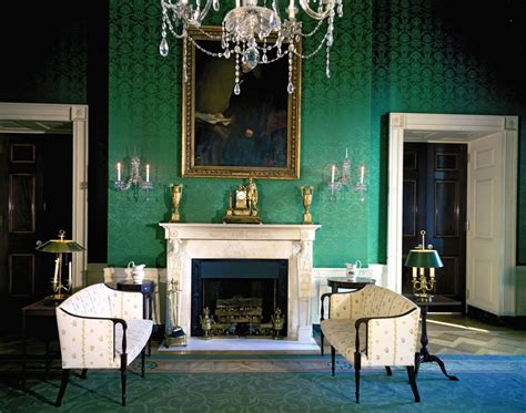 Blue And Red Dining Room white house rooms blue green red rooms john f
