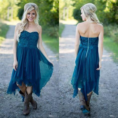simple country bridesmaid dresses  cheap teal chiffon
