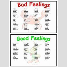 Feelings Adjective Resource Mats