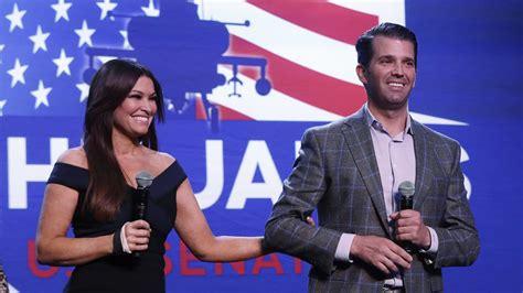 guilfoyle kimberly trump donald jr girlfriend tests positive covid john james rally trumps republican coronavirus senate campaign candidate friend official