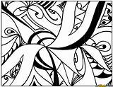 Coloring Abstract Complex Printable sketch template