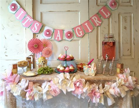 decor for a baby shower party decorating ideas its a girl baby shower decorations loversiq
