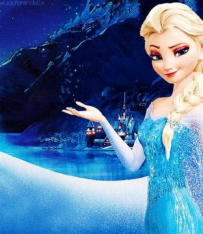 Frozen Elsa Snow Disney Queen Gifs Kartun