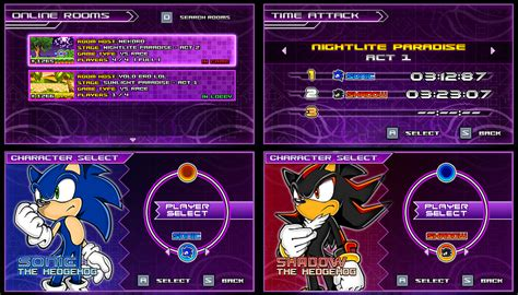 sonic fan games online sonic vs darkness new menu design compilation p2 by