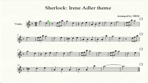 sherlock irene adler theme violin cover with score by