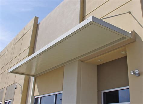 imperial marquee awning   wide flat panels
