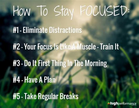 How To Stay Focused 5 Steps To Boosting Concentration