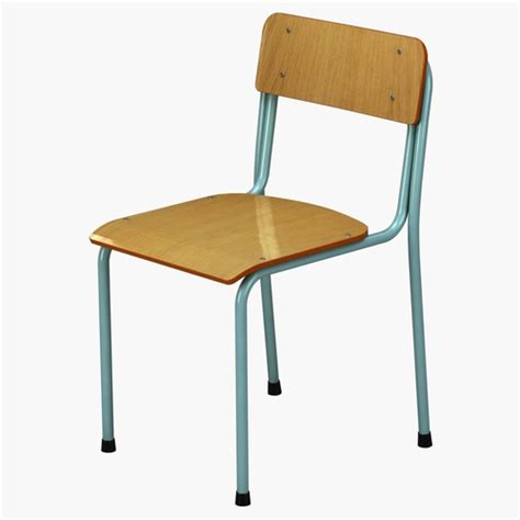 3d School Chair Vray Cgtrader