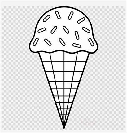 Ice Cream Coloring Sundae Colouring Cones Clipart