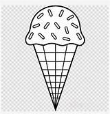 Ice Cream Coloring Pages Cones Cone Clipart Colouring Sundae Nicepng sketch template