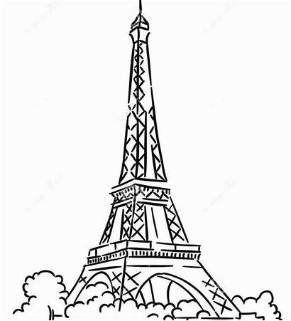 Tower Eiffel Coloring Paris Pages Printable Colouring