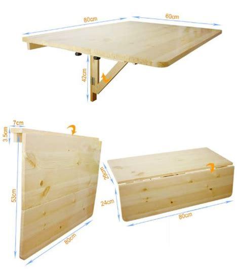 table pliante cuisine pas cher sobuy fwt02 w table murale rabattable en bois