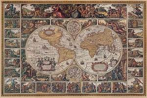 Old World Wallpaper Map Mural