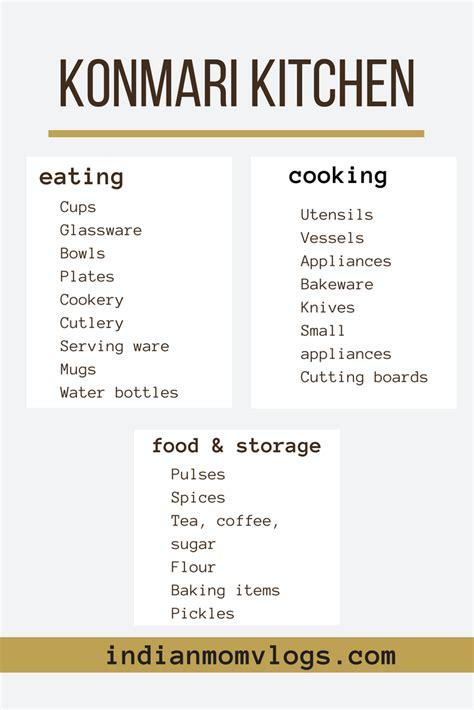 konmari kitchen categories Indian Mom Vlogs