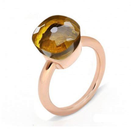 pomellato nudo replica replica pomellato nudo ring in pink gold with madeira