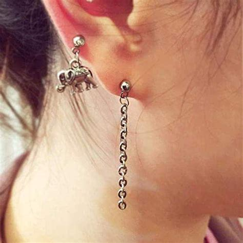 amazoncom simple chain earring helix earring