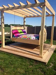 Outdoor swing bed Fun stuff Pinterest Outdoor swing