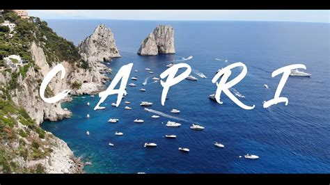 Beautiful Island Of Capri Italy 4k Youtube