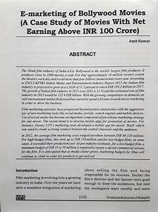 (PDF) E-MARKETING OF BOLLYWOOD MOVIES (A CASE STUDY OF ...