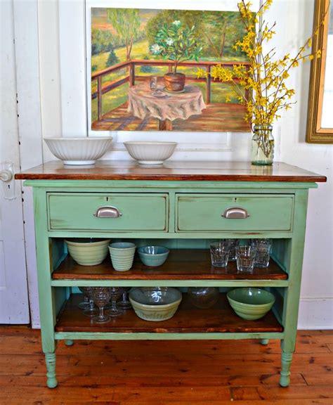 antique dresser turned kitchen island refurbished
