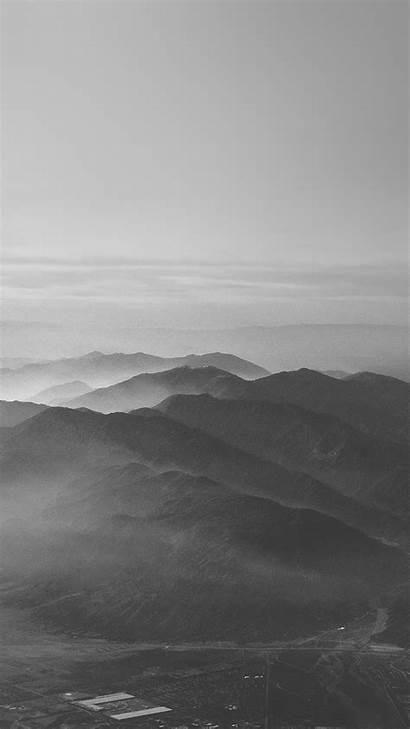Iphone Gray Nature Dark Sky Mountain Fog