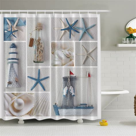 themed bathroom decor ebay nautical theme bathroom fabric shower curtain