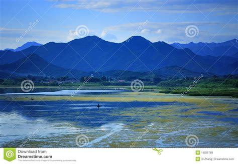 china qinghai lake scenery royalty  stock