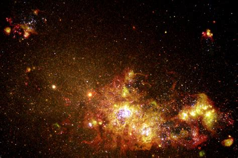 Galaxy Of Lights by Fireworks Of Formation Light Up A Galaxy Esa Hubble