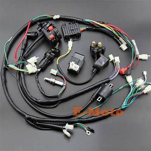 Full Wiring Harness Loom Ignition Coil Cdi Ngk For 150cc