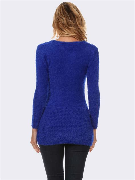 blue sweater royal blue textured knit sweater modishonline com