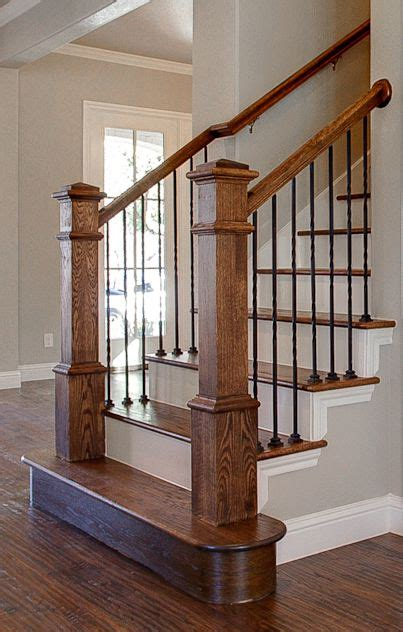 Banister And Baluster by Bannister Custom Homes Metal Balusters Stained Banister