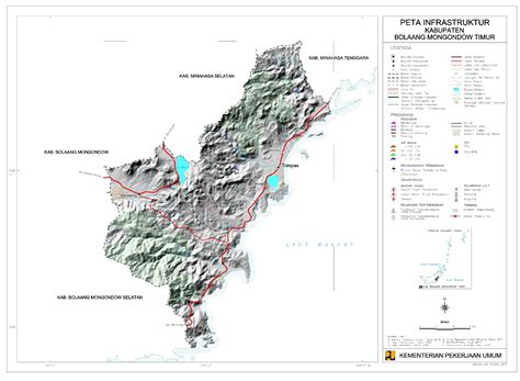 peta kota peta kabupaten bolaang mongondow timur
