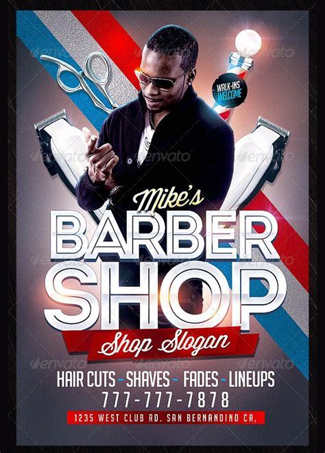 barbershop flyer templates  designs word psd