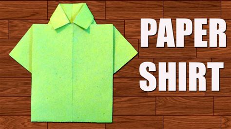 paper shirt diy origami paper crafts youtube