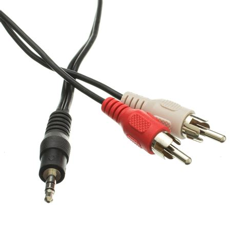 6ft 3.5mm Stereo to RCA Stereo Cable, Male to Male