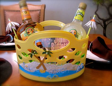 margaritaville gift basket   cute  beach stuff