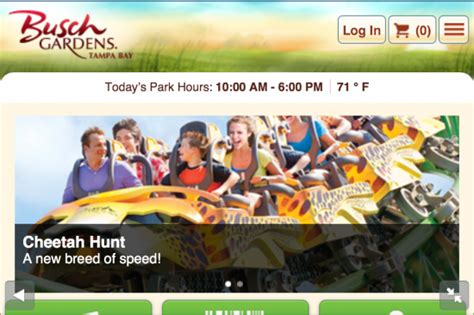 Busch Gardens Ta Directions by New Mobile Websites For Seaworld And Busch Gardens Allow