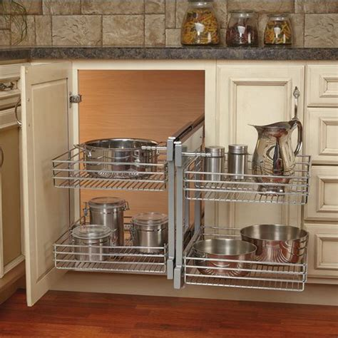 kitchen blind corner cabinet this blind corner optimizer by rev a shelf maximizes space