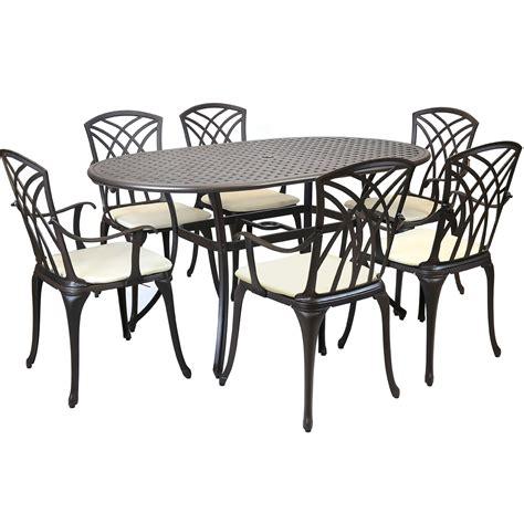 metal cast aluminium 7 garden furniture table patio