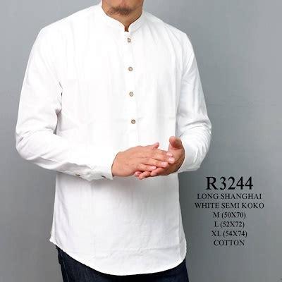 kemeja pria lengan panjang putih kerah kemeja koko terbaru smart4k design ideas