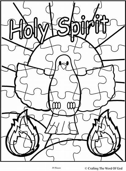 Puzzle Holy Spirit Coloring Pages Sunday Crafts