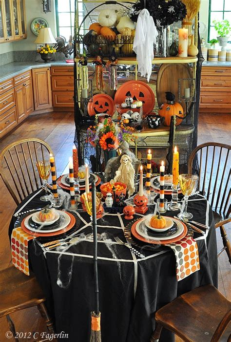 halloween table decor parties pinterest