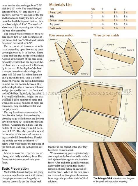 recipe box plans woodarchivist