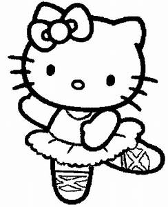 Free princess hello kitty coloring pages