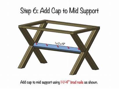 Bench Plans Upholstered Step Diy Support Mid