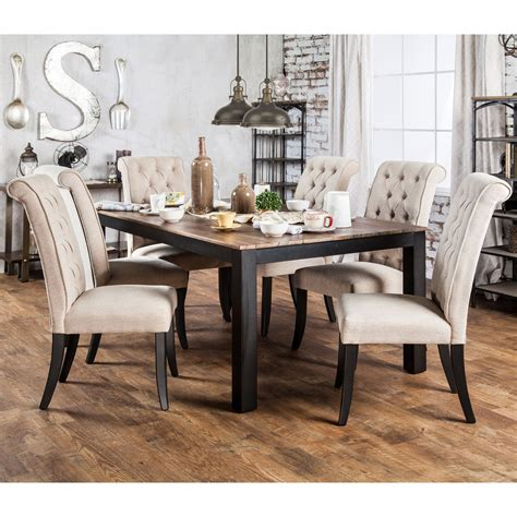 kitchen dining room furniture gracewood hollow tabios rustic two tone dining table