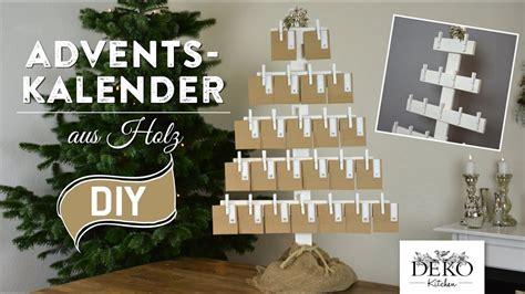 adventskalender basteln grosser adventskalender aus holz   deko kitchen youtube