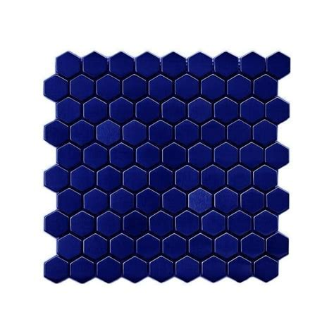 Hexagon Gloss Royal Blue (3.4cm x 3.4cm) 30cm x 30cm