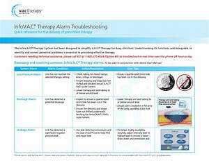 Info V A C  Therapy Alarm Troubleshooting Guide Sept 2008