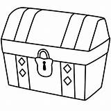 Treasure Chest Coloring Drawing Simple Locked Drawings Map Clipart Easy Empty Silhouette Pirate Kidsplaycolor Lock Opened Clip Printable Printables Bible sketch template